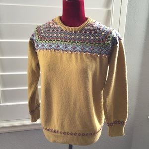 Boden Girls Sweater French Knot Embroidered Sz 14